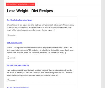 Lose Weight Diet Recipes