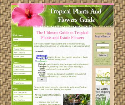 Tropical Plants and Flowers Guide