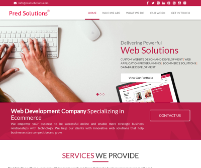 PRED Solutions 3d/Website Design and Development