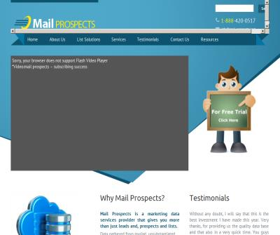 We at Mail Prospects expertise in custom business lists for any industry vertical and email appending