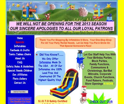 Long Island Party Rentals - Inflatables N More