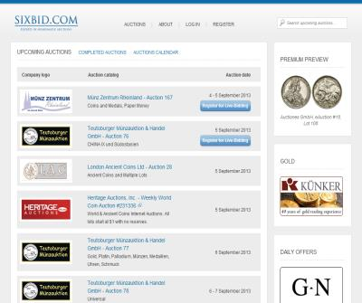 Sixbid Numismatic Auctions