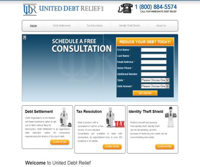 United Debt Relief, LLC.  We are your debt relief experts!