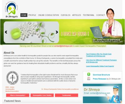 Dr Shreya's Online Homeopathic Consultation