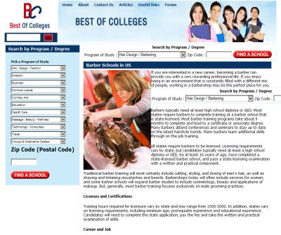 Brber Schools: Barber Schools in US