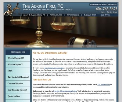 The Adkins Firm, Georgia Bankruptcy Lawyers