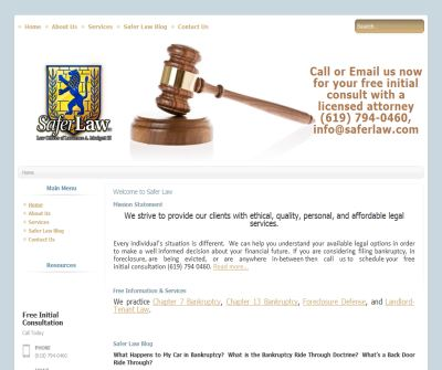 Safer Law - The Law Offices of Lawrence A Mudgett III