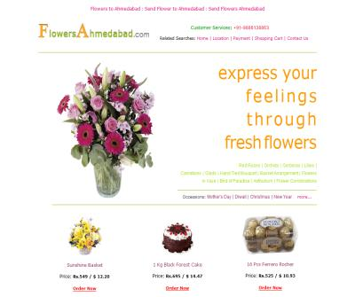 Send Flowers to Ahmedabad, Flower to Ahmedabad.