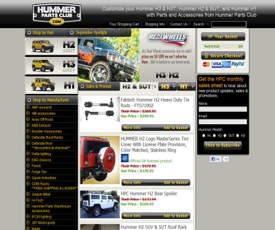 HummerPartsClub.com #1 Source for all Hummer Parts and Accessories