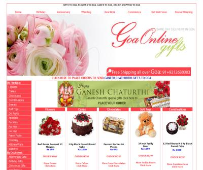 Gifts to goa, Flowers to goa, Cakes to goa,Same Day delivery all over goa