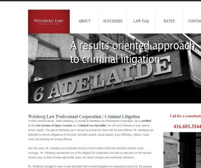 Adam Weisberg Toronto Criminal Law Firm - Downtown Toronto Lawyer - Toronto Criminal Defense Attorney