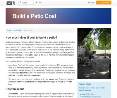 Patio Cost Guide for Homeowners