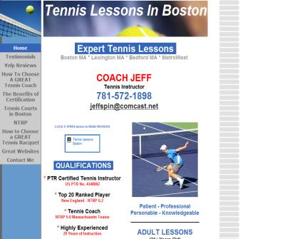 Tennis Lessons Boston