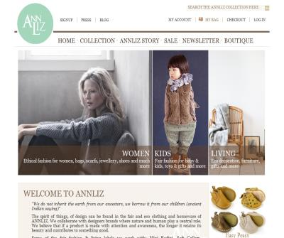 ANNLIZ - Timeless ethical fashion and homeware