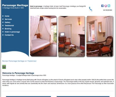 hotels in kasauli-Budget Hotels Accomodation  in Kasauli - Parsonage Heritage