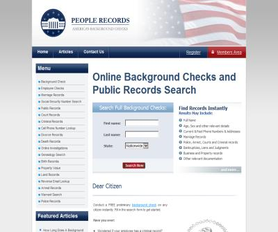 Online background Checks for US residents