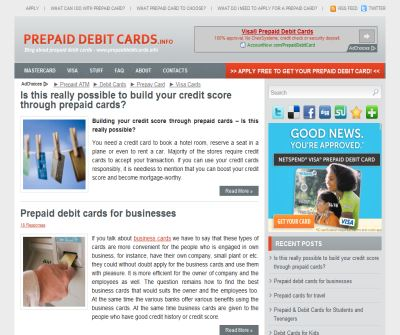 Mastercard prepaid debit card for You in USA