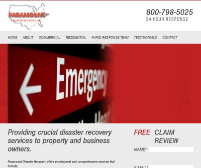 Paramount Disaster Recovery, Inc. Disaster Analysis and Management Services