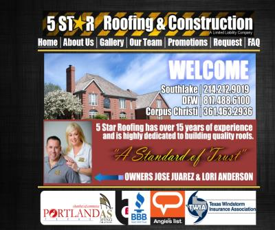 5 Star Roofing & Construction in Oklahoma City and Fort Worth, Texas