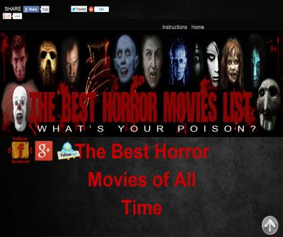 The  Best Horror Movie List
