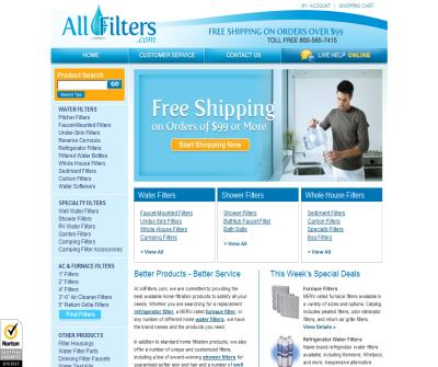 All Filters - Air and Water Fitlers of every kind