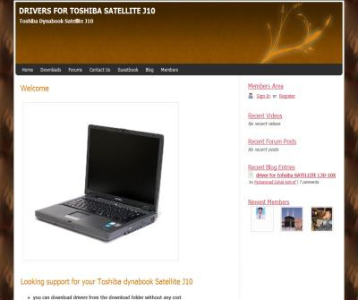 Drivers For Toshiba Satellite J10