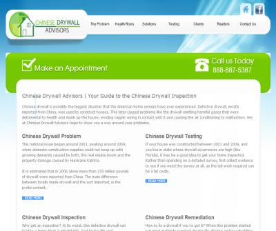 Chinese Drywall Advisors – Your guide to the Chinese Drywall Problem