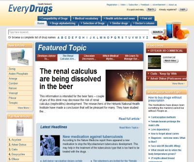 Health network, drugs alphabetizing, top 50 drugs