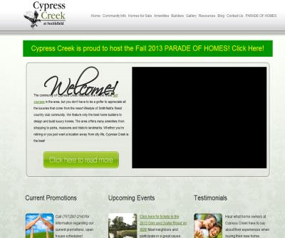 New Homes At Cypress Creek Golf Course
