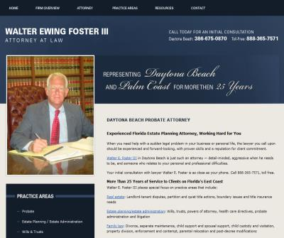 Walter Ewing Foster III, Attorney at Law