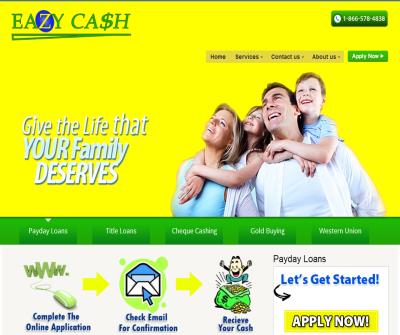 EAZYCASH- PAY DAY LOAN , CHEQUE CASHING , CAR LOAN
