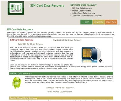 sim card data recovery