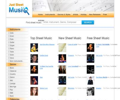 Justsheetmusic | The sheet music search engine