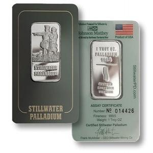 Palladium Coins & Bars